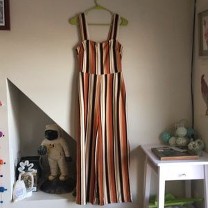 Urban Outfitters Pants - Delaney Straight-Neck Striped Jumpsuit from UO